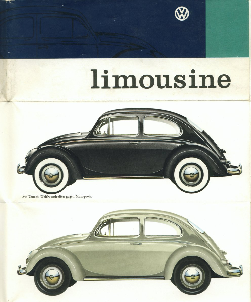1960 VW Beetle Colors