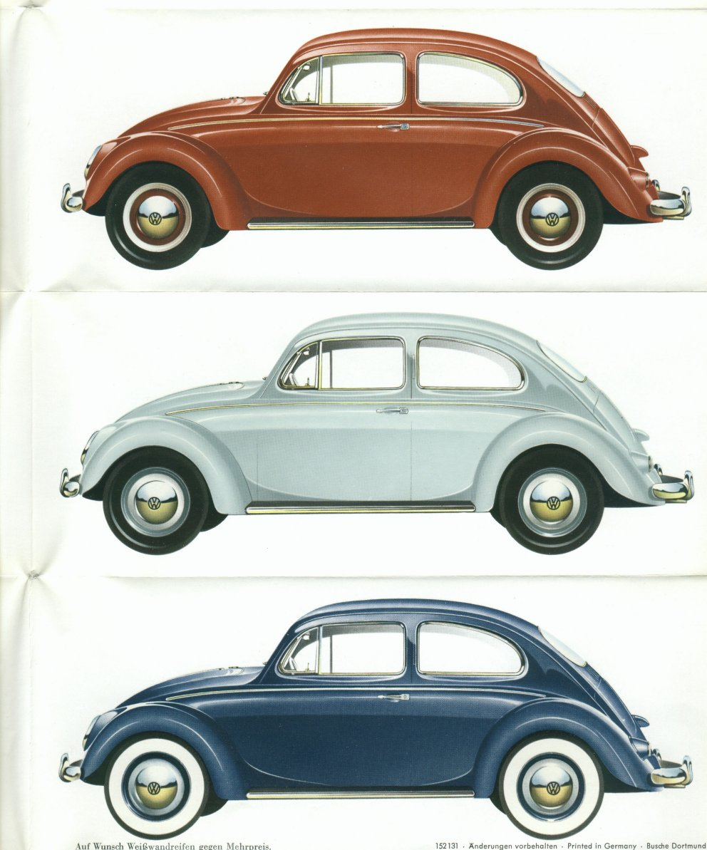 1960 VW Beetle Colors