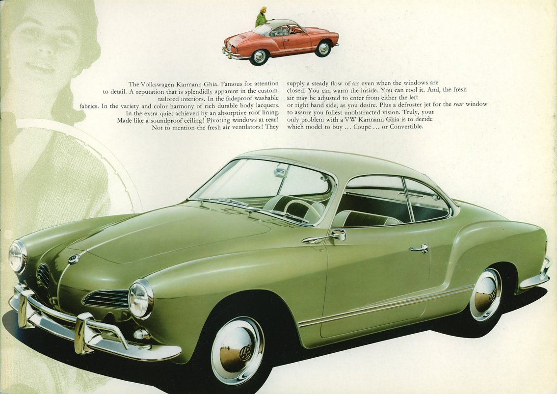 Thesamba Com 1960 Vw Karmann Ghia Sales Brochure