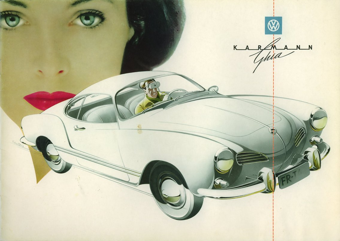 1960 Vw Karmann Ghia Sales Brochure German Volkswagen Copyright 1996 2018 Everett Barnes All Rights Reserved Not Affiliated With Or Sponsored By Of America Forum Powered