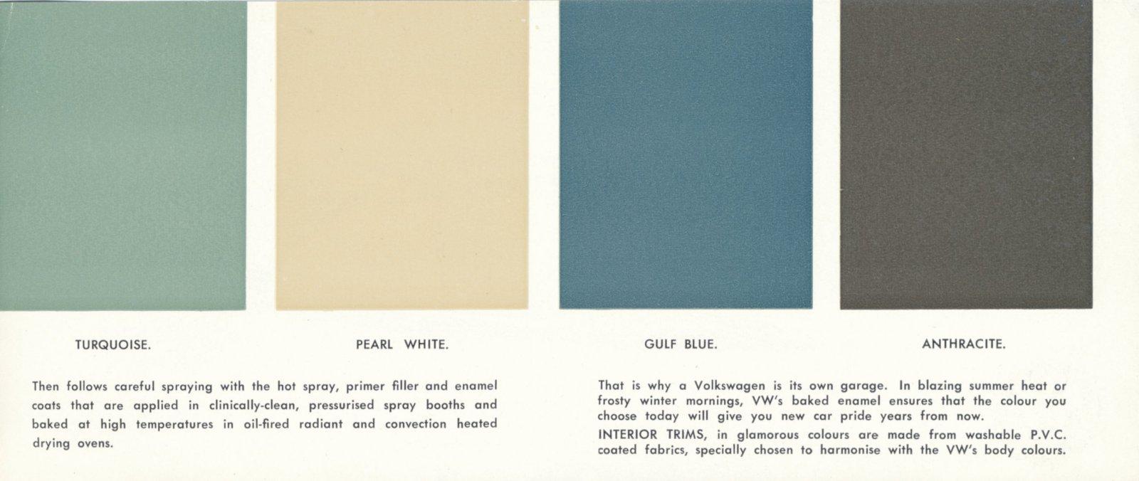 TheSamba.com :: VW Archives - 1963 VW Beetle Paint Colors - Australia