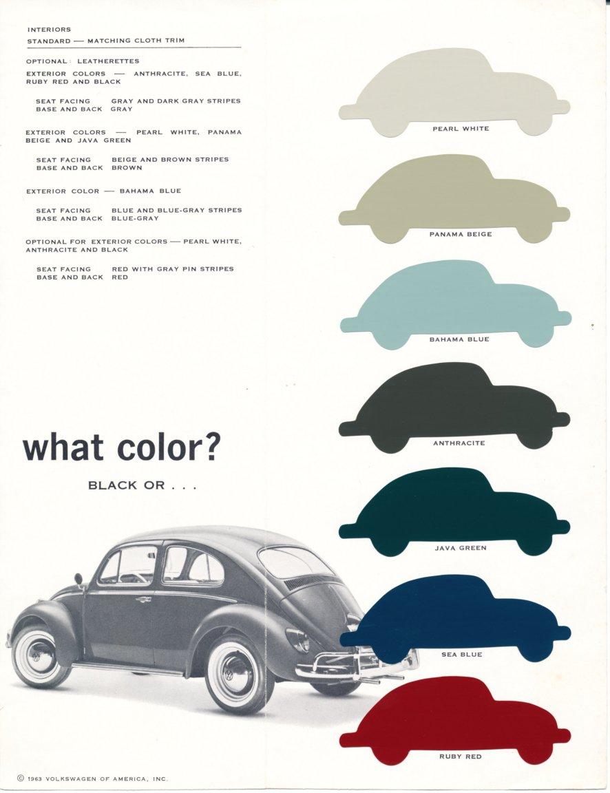 Thesamba Com Vw Archives 1963 Vw Beetle Paint Colors