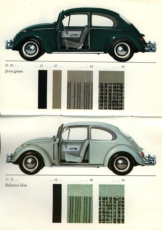 Vw Beetle Bug Seat Upholstery Difference