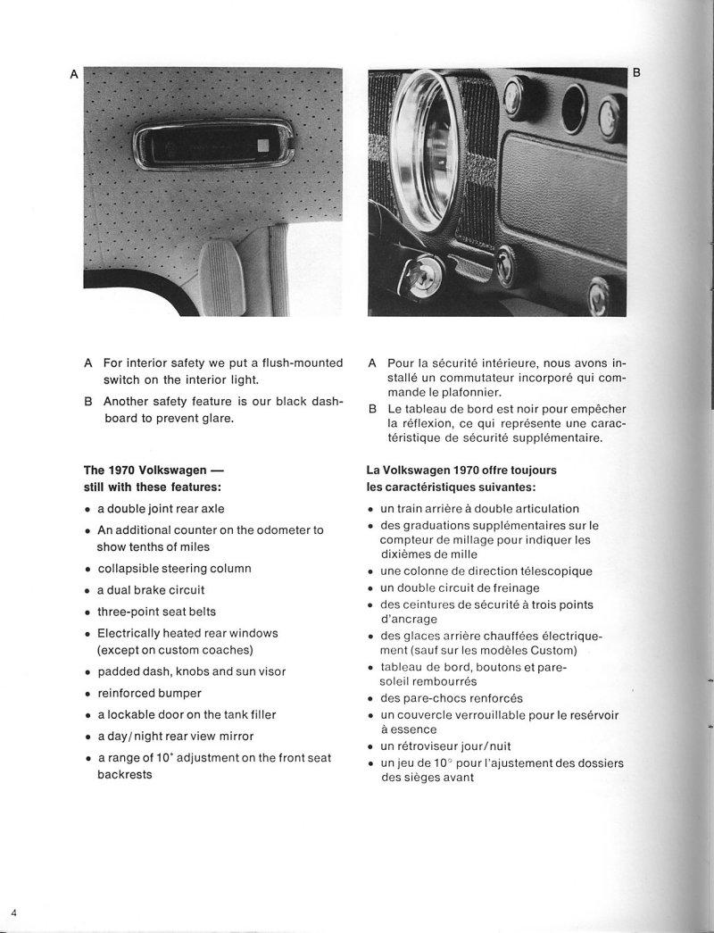 Thesamba Com Vw Archives 1970 Salesmen Information Full Line Brochure Canadian