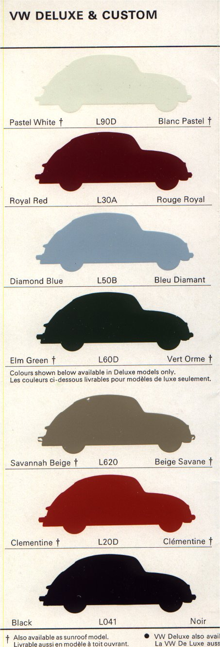 thesambacom vw archives  beetle colors brochure