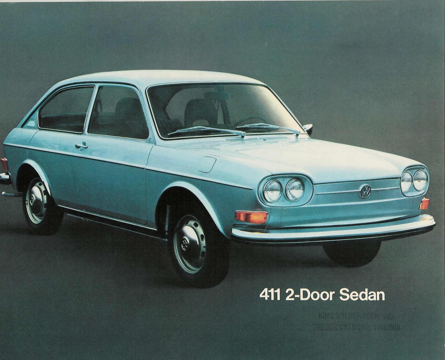 TheSamba.com :: VW Archives - 1972 US Color sheet - VW 411 2-door ...