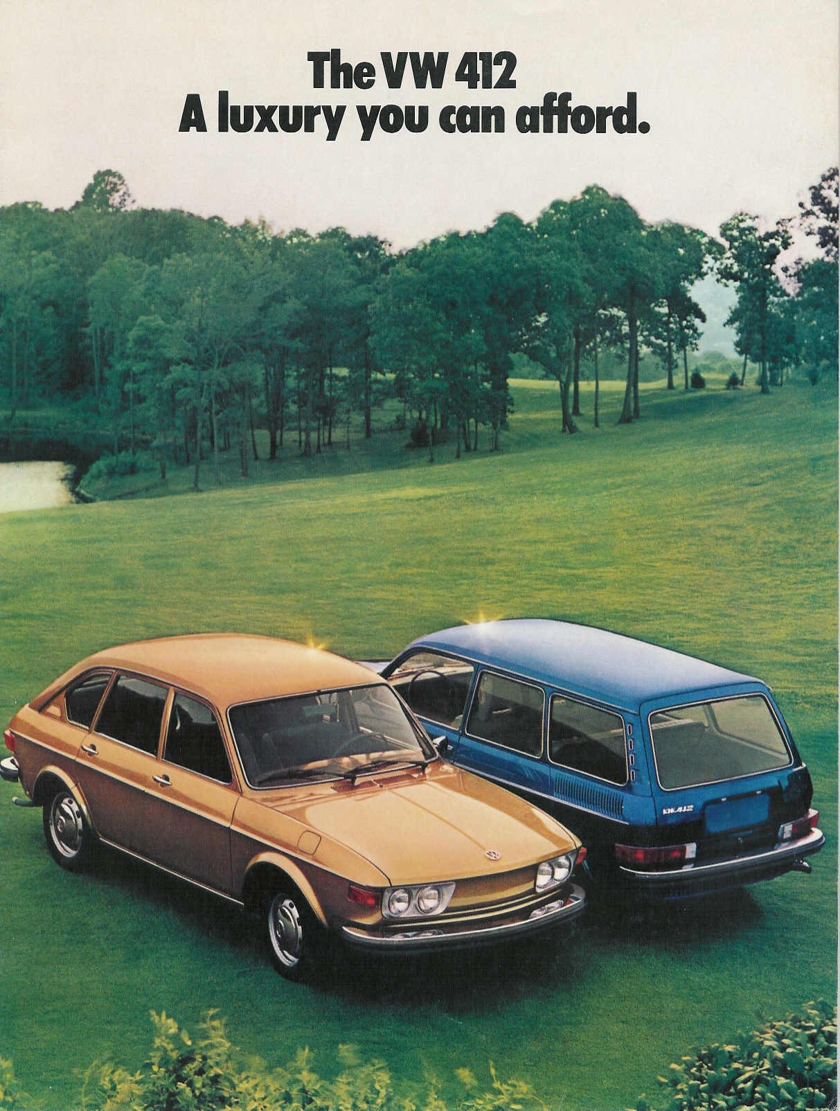 1973 VW 412 Sales Brochure