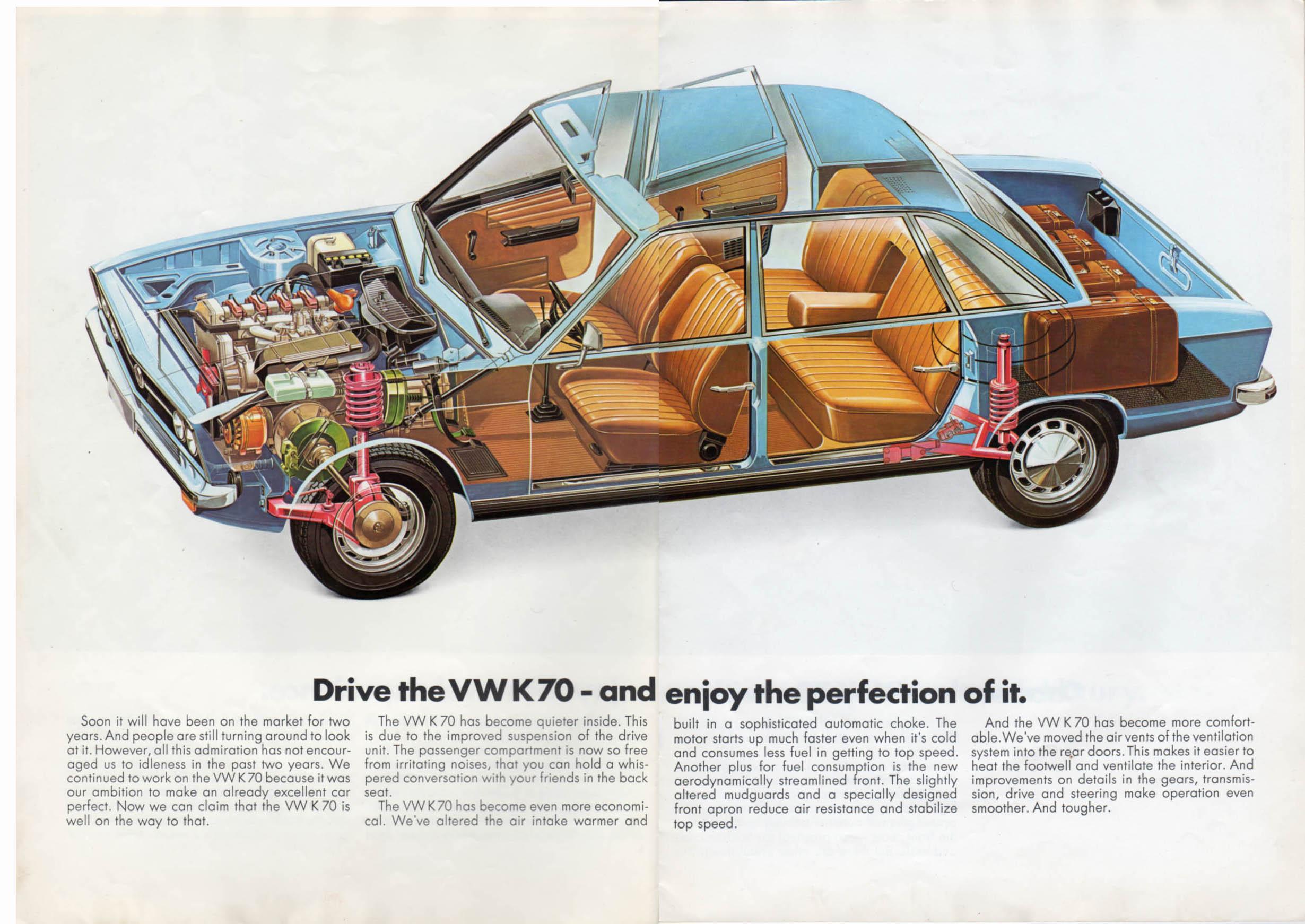 TheSamba.com :: VW Archives - 1973 VW K70 Brochure