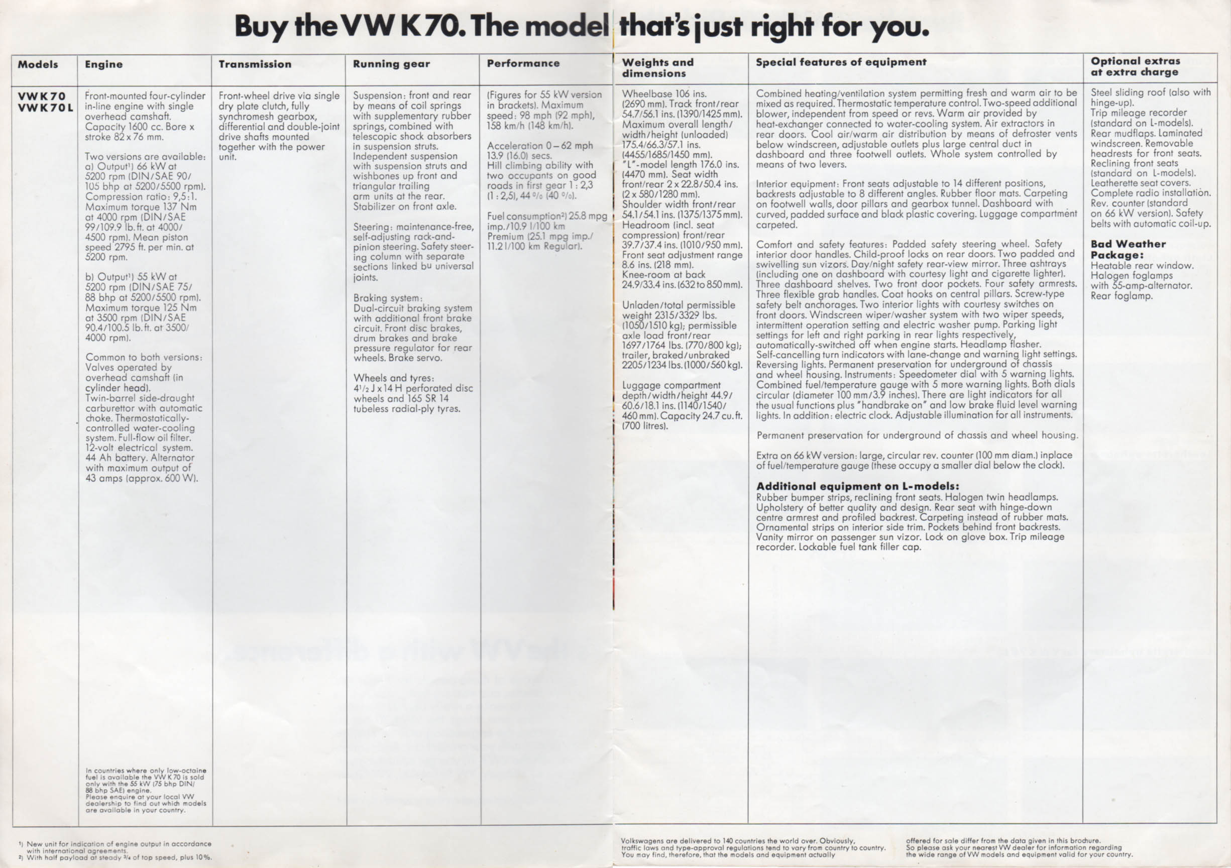 Vw Archives 1973 K70 Brochure Acts As An Output Of The Circuit Click To View Fullsize Picture On Any Image See It Full Size