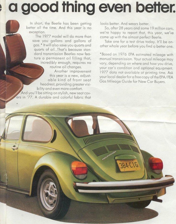 TheSamba.com :: VW Archives - 1977 VW Beetle Brochure