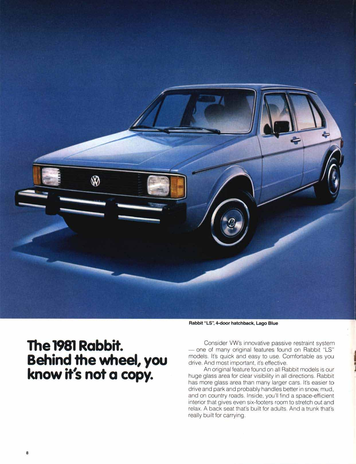 Thesamba Com Vw Archives 1981 Vw Rabbit Brochure