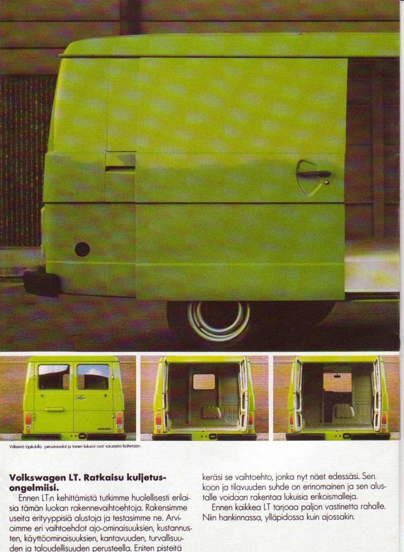 TheSamba com :: VW Archives - 1985 VW LT Commercials - Finnish