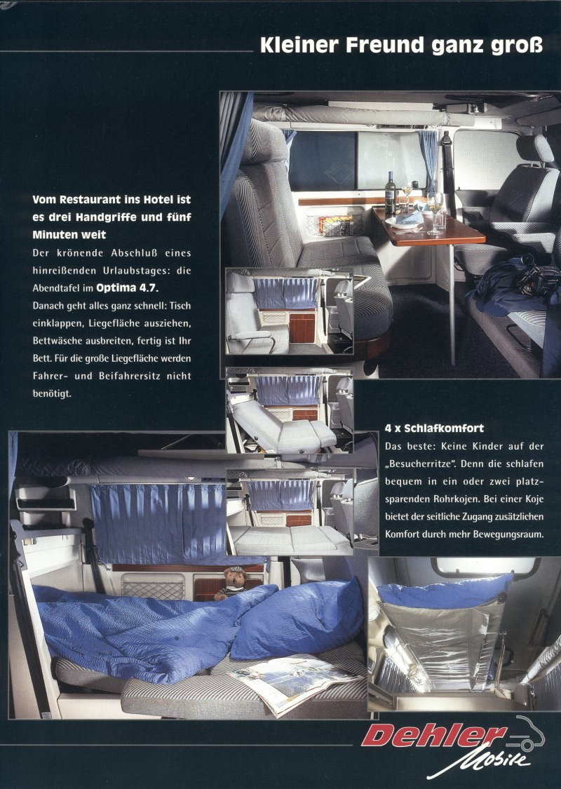TheSamba.com :: VW Archives - 1995 Dehler Optima Brochure - German