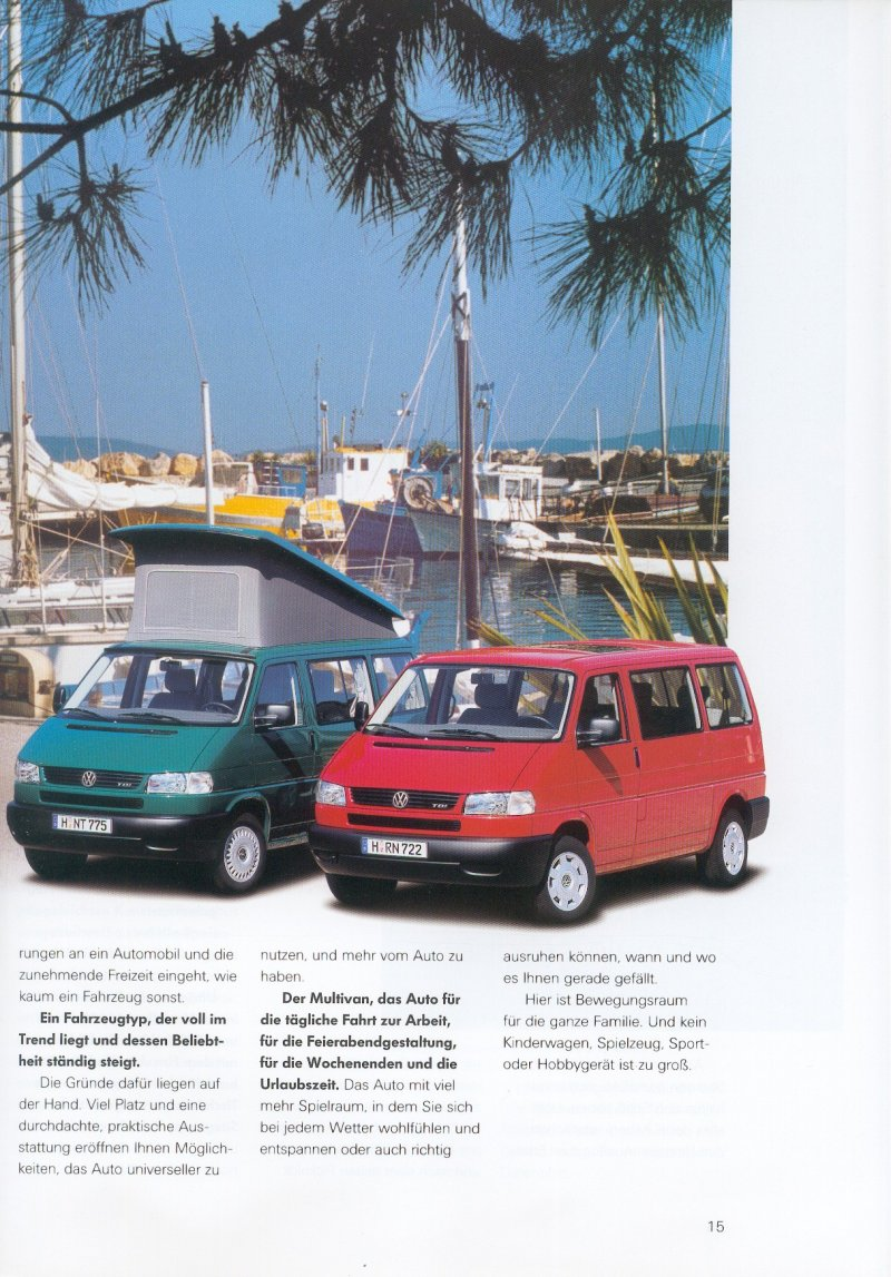 TheSamba.com :: VW Archives - 1997 Caravelle Multivan Brochure - German