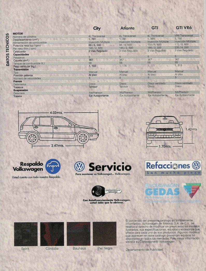 Vwvortexcom 1997 Golf Brochure