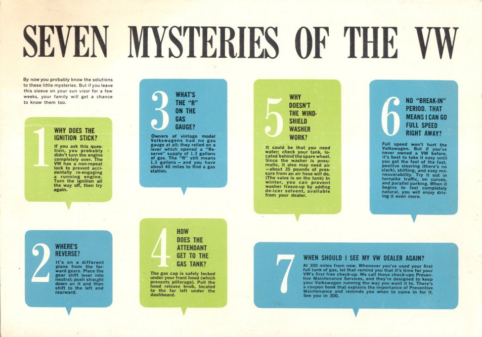 Image result for seven mysteries of the VW