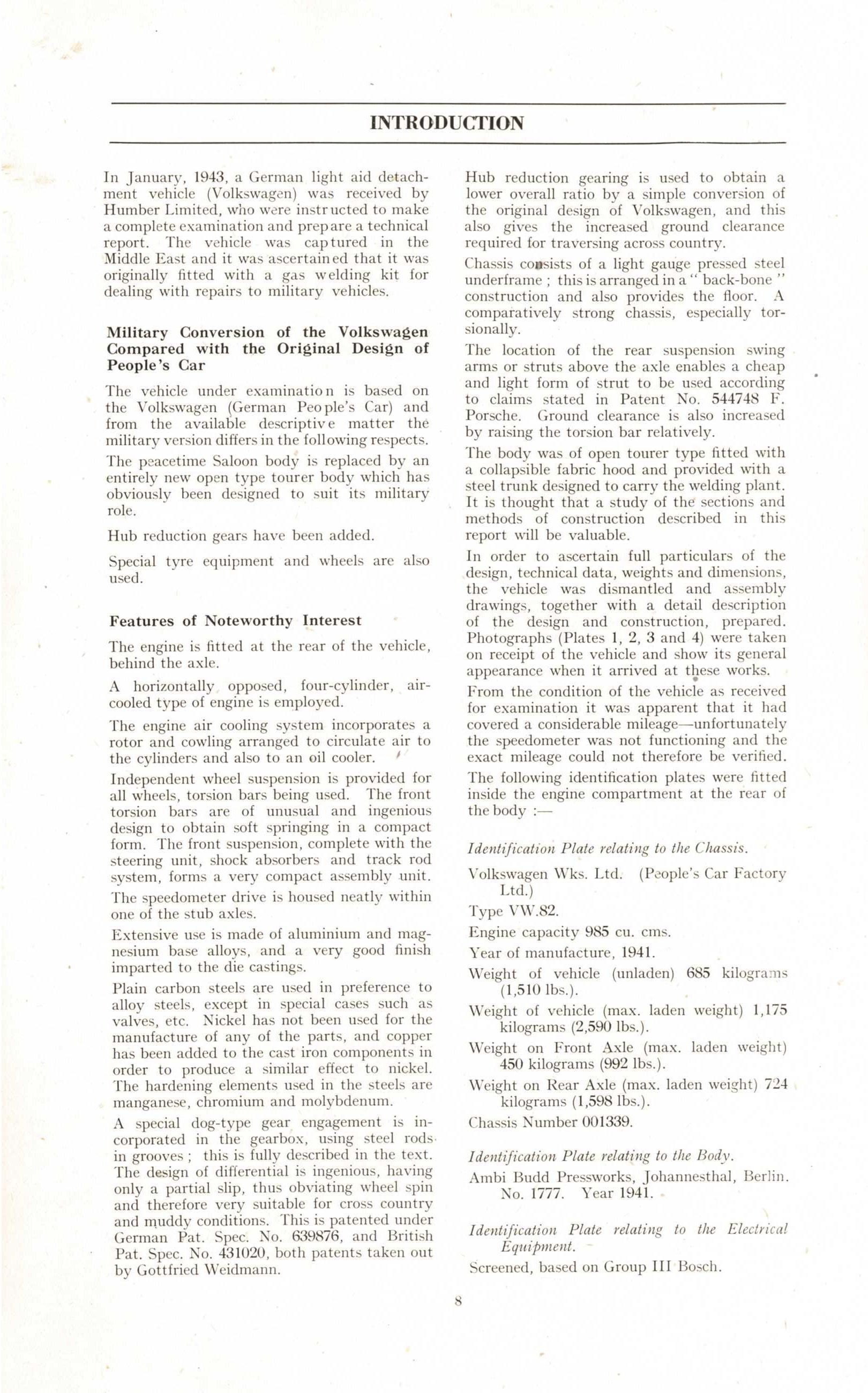 TheSamba com :: 1943 Rootes Group / Humber Ltd  VW Type 82