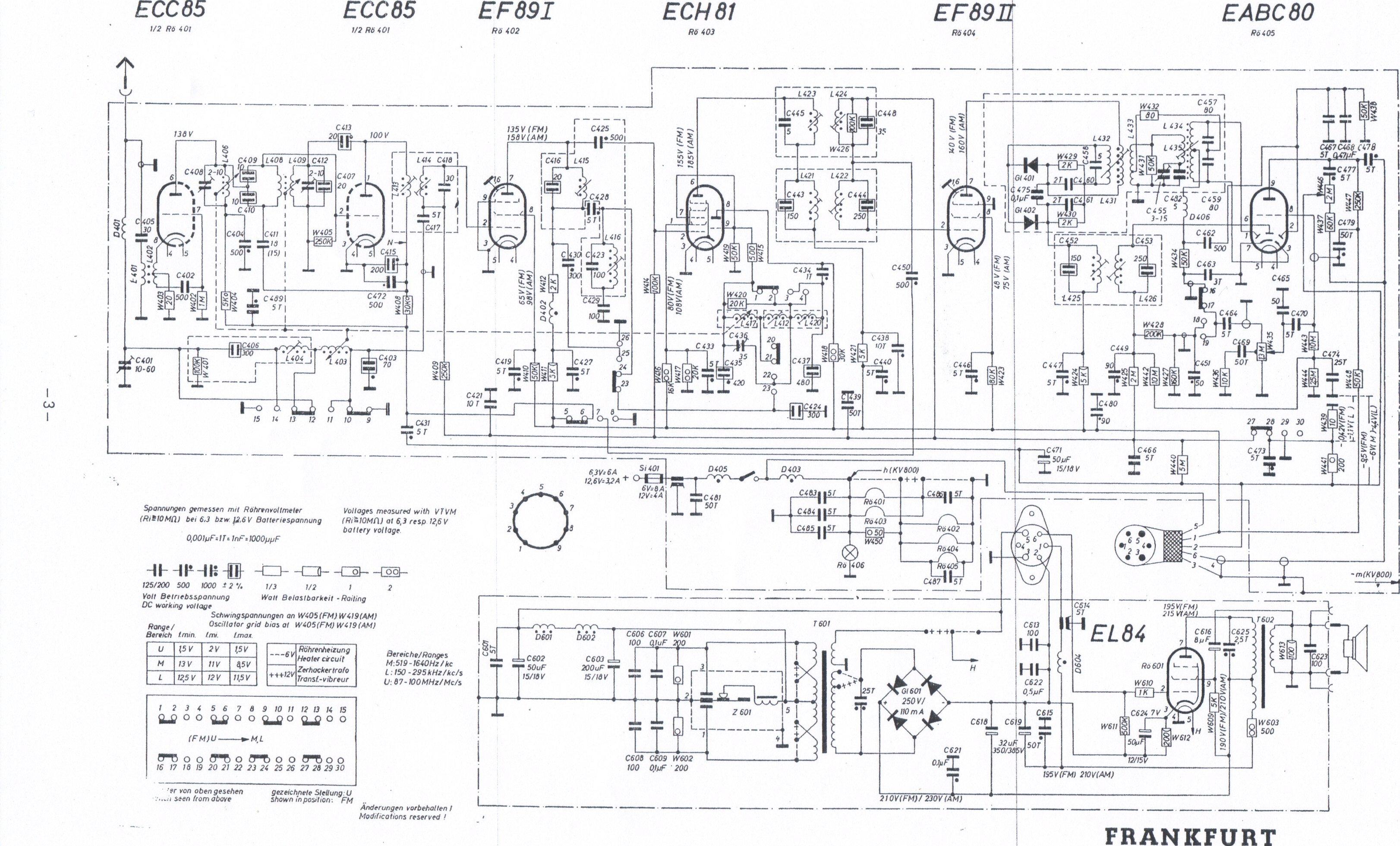 thesamba com 1959  59 blaupunkt frankfurt radio chassis wiring diagram 1994 ford f350 chassis wiring diagram 2004 fleetwood r35