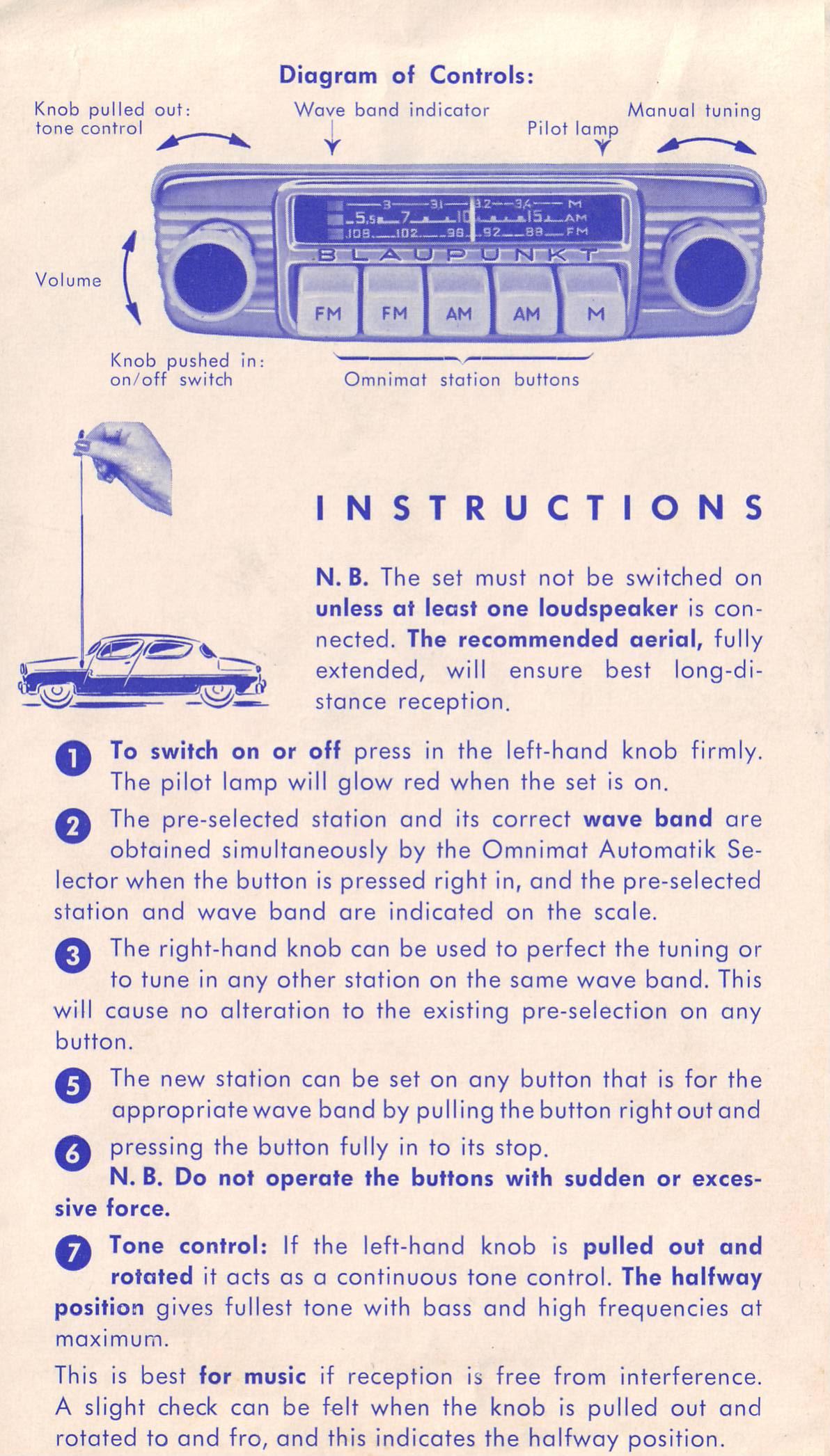 Thesamba Com Blaupunkt Frankfurt Radio Owner S Manual