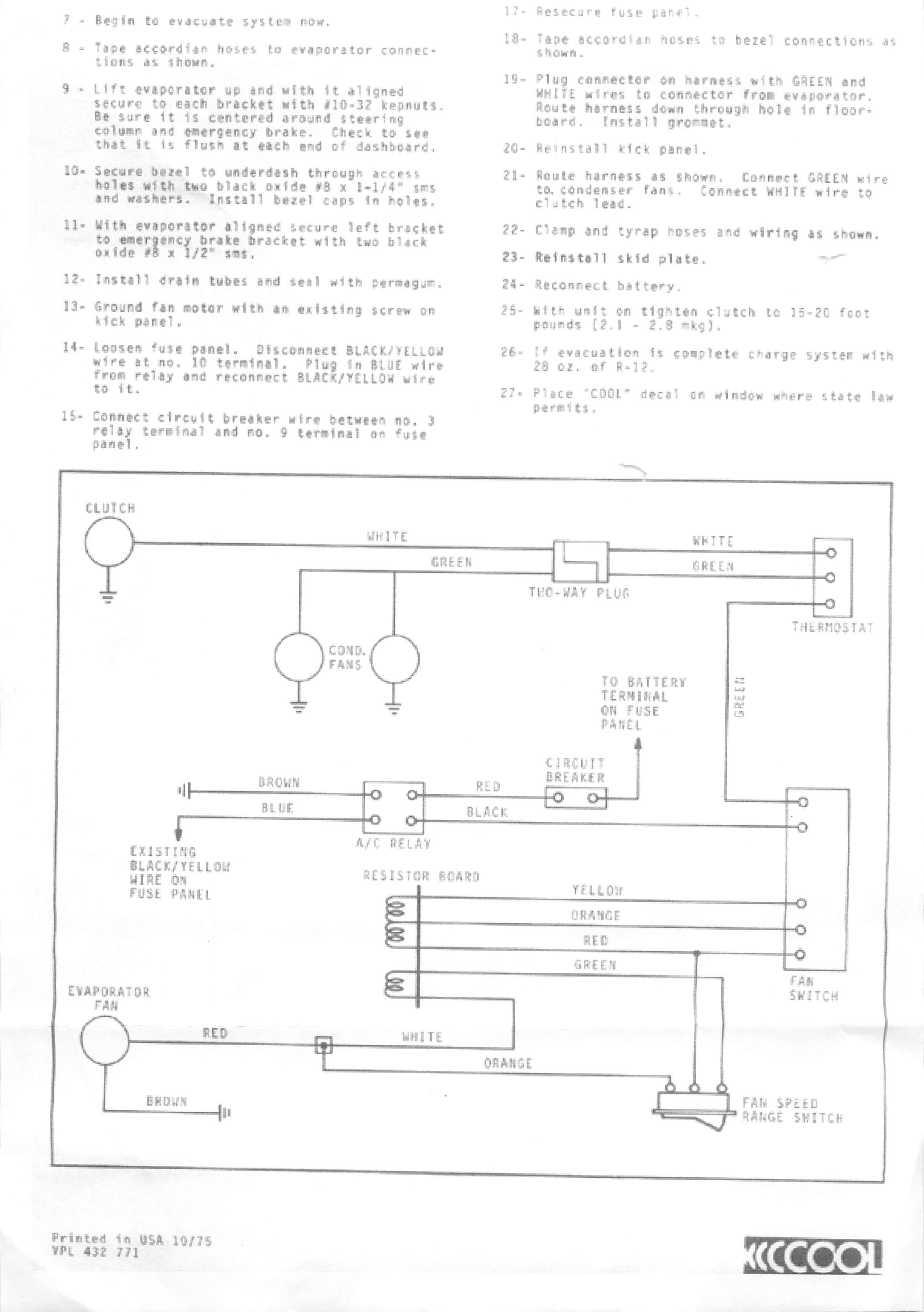 Thesamba Com    1976 Vw Bus Dpd Under Dash Air Conditioner Instructions