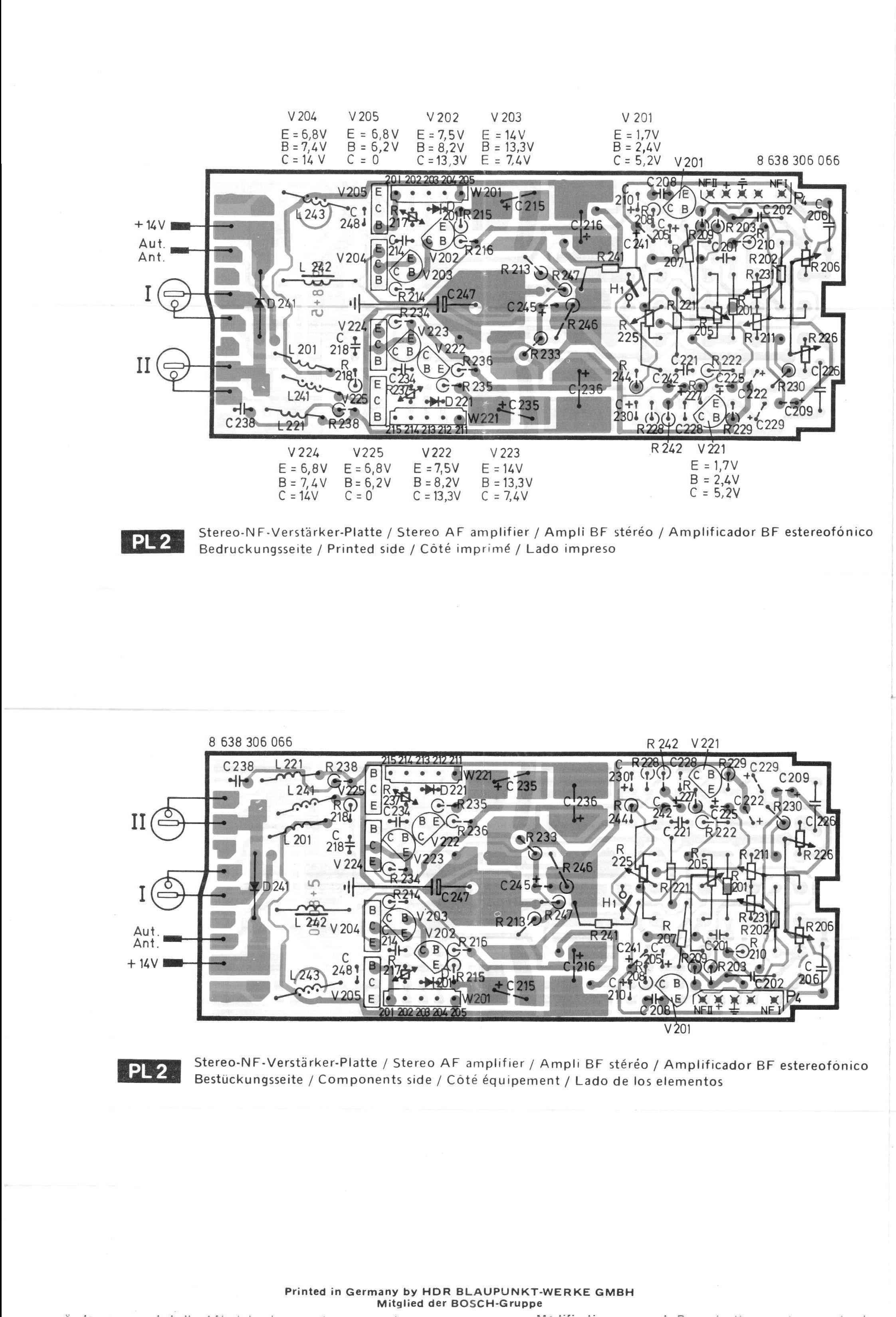 thesamba com    1977 blaupunkt frankfurt stereo us schematic