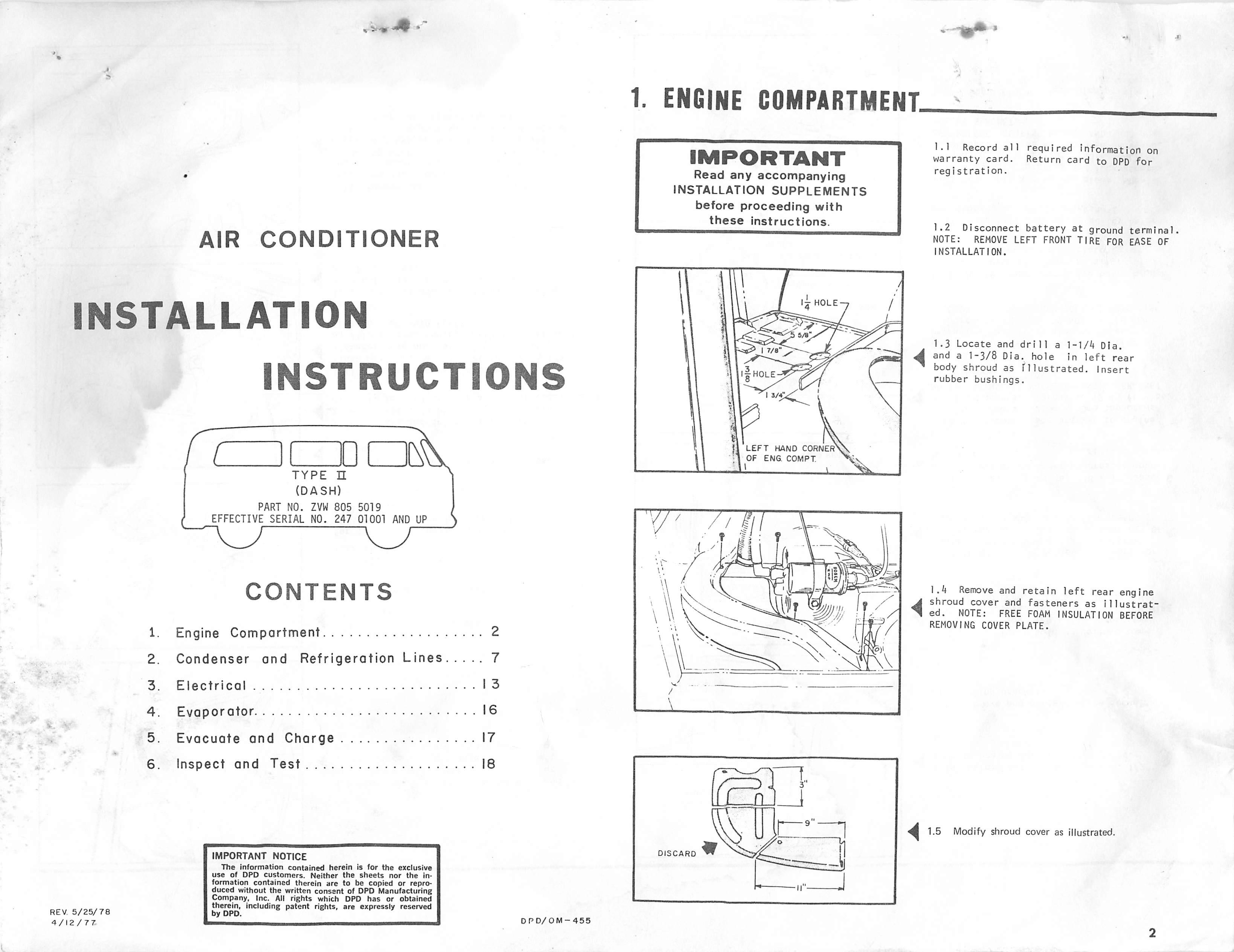 Thesamba Com    1979 Vw Bus Dpd Under Dash Air Conditioner Instructions