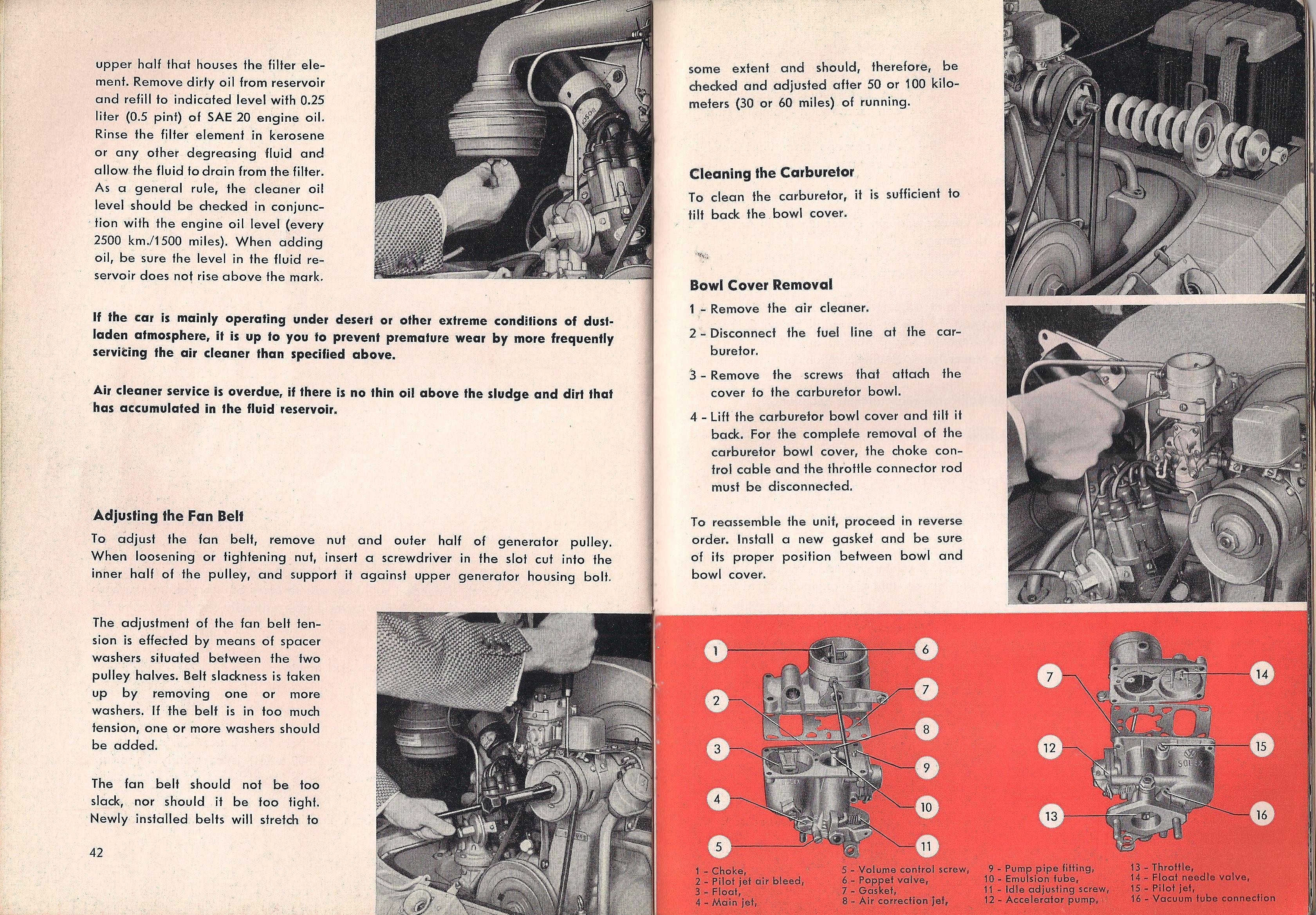 TheSamba com :: January 1957 VW Karmann Ghia Owner's Manual