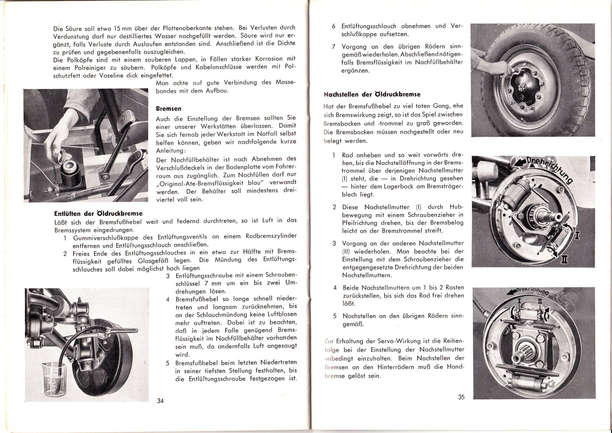 TheSamba.com :: February, 1950 VW Bus Owner\'s Manual - German