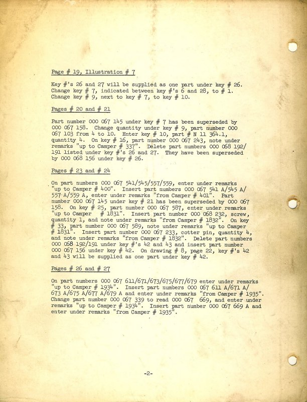 Thesamba Com 1966 Campmobile Parts List