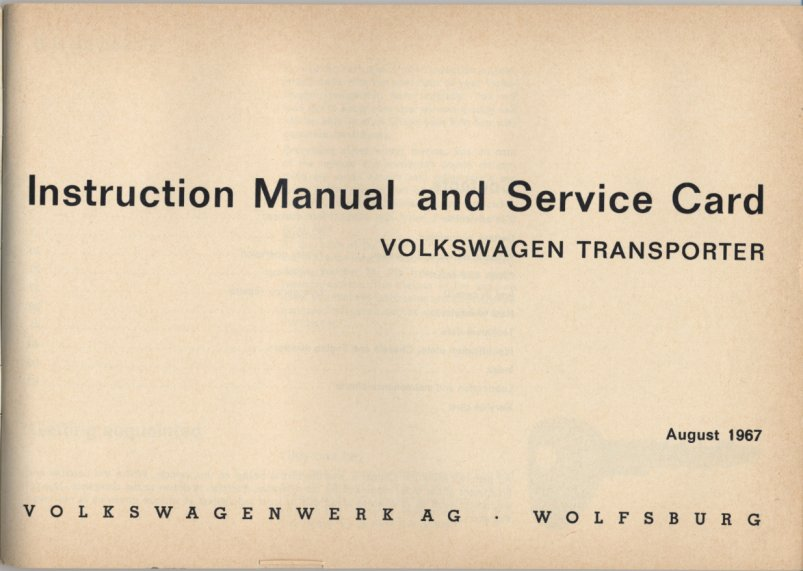 owners manuals vw