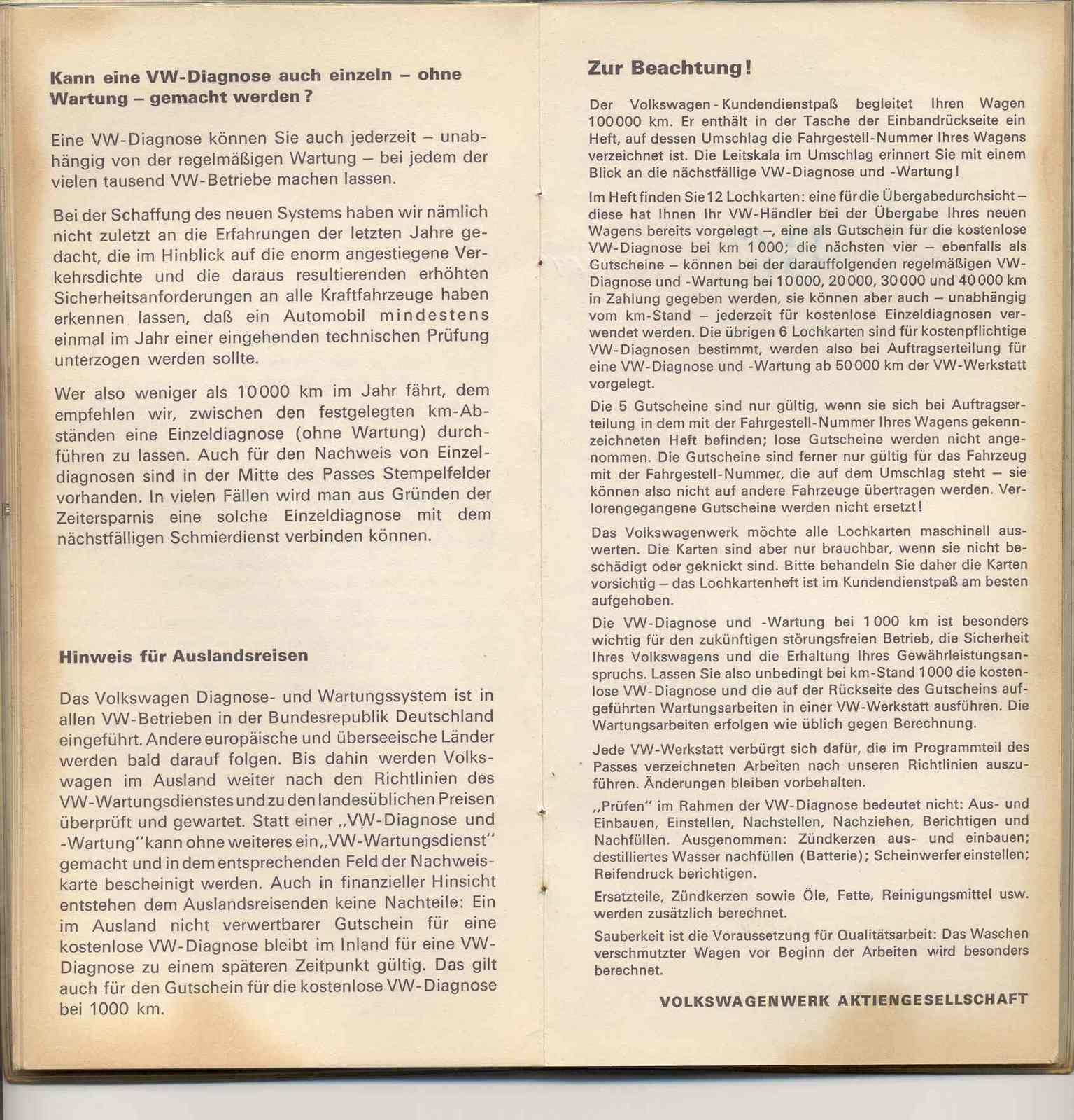 TheSamba.com :: 1969 VW Bus Service Book