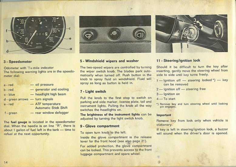 TheSamba com :: 1970 VW Beetle Owner's Manual