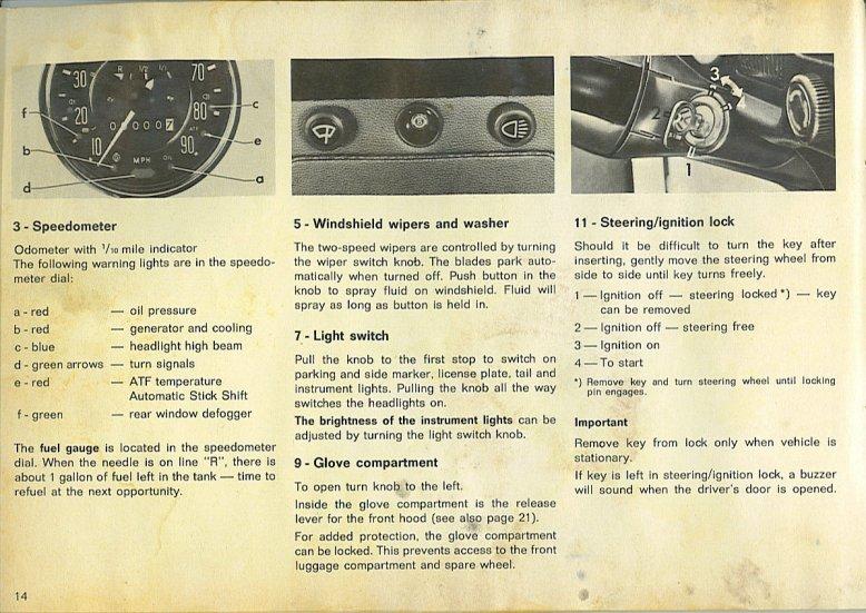 Motor Limpiaparabrisas........ 14