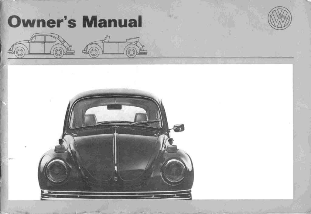 thesamba com 1971 beetle owner s manual rh thesamba com vw owners manual for sale vw owners manual online