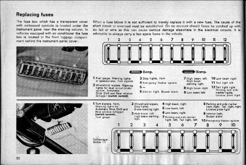 super beetle fuse box diagram super beetle fuse box wiring thesamba.com :: beetle - late model/super - 1968-up - view ... #6