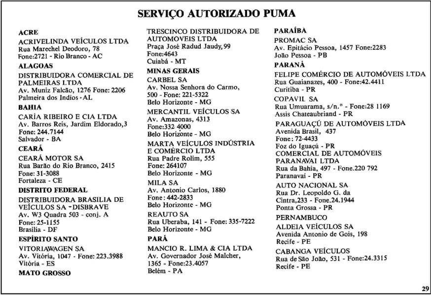 Thesamba Com 1978 79 Puma Gte Gts Owner S Manual