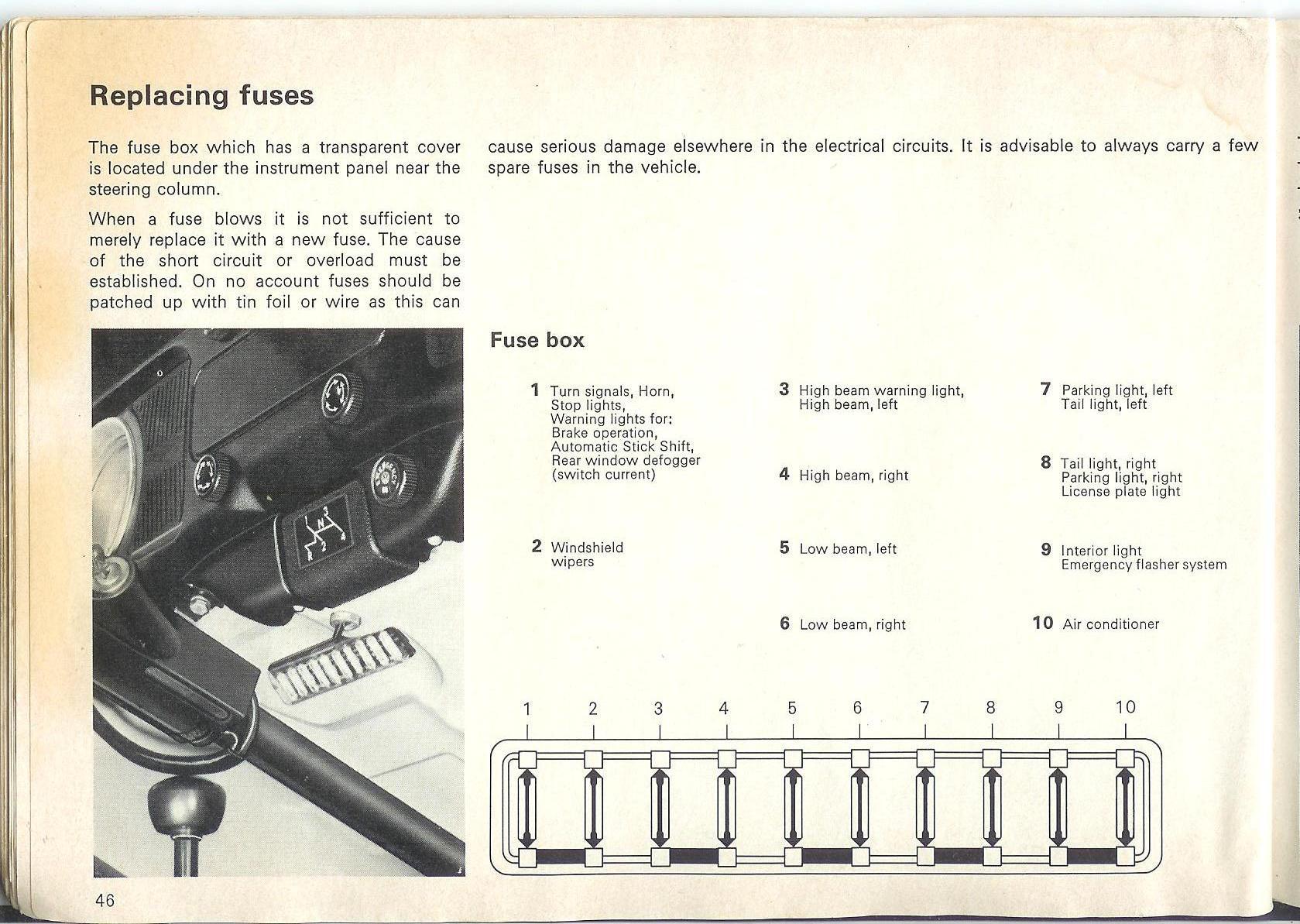 46 1970 vw beetle fuse box schematic diagram
