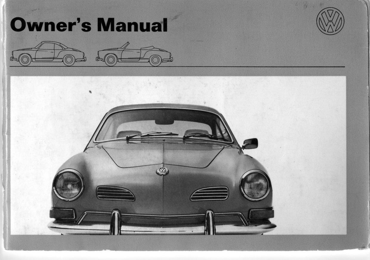 TheSamba.com :: August 1970 (1971 Model Year) VW Karmann Ghia Owner's Manual