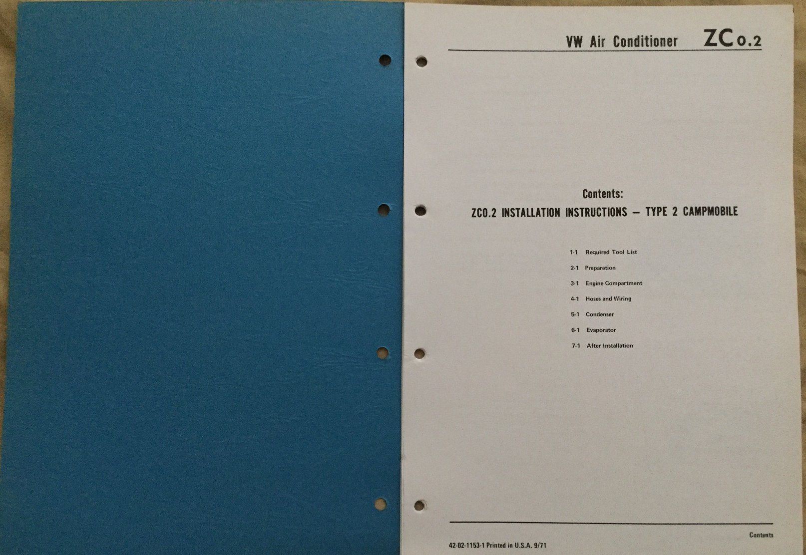 1972 Vw Campmobile Air Conditioner Installation Wiring Tools List Pdf Instructions 37 Mb Please Right Click On The Link Above And Do Save As