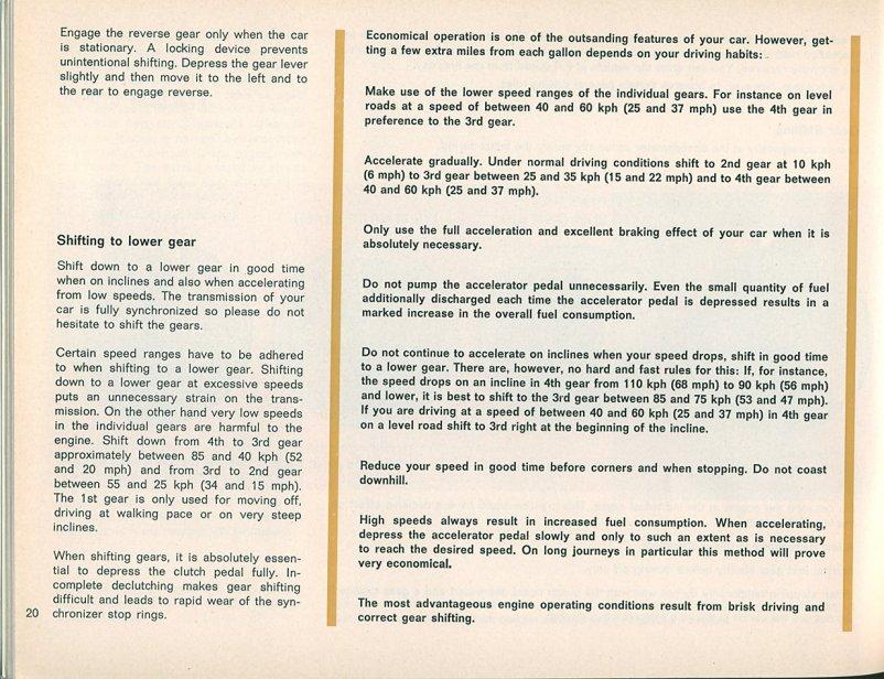TheSamba com :: 1963 (August 1962) Type 34 Karmann Ghia Owner's Manual