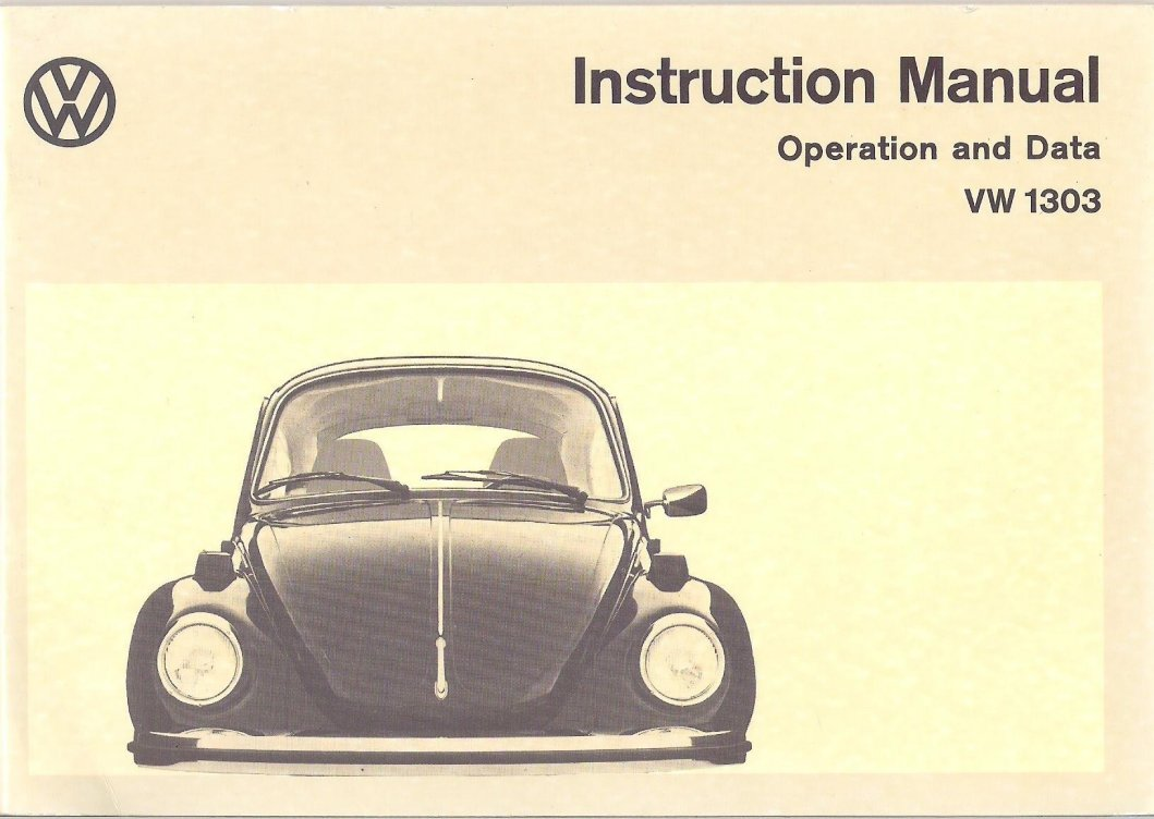 thesamba com 1974 bug owner s manual rh thesamba com 1973 vw beetle service manual 1973 vw bus owners manual
