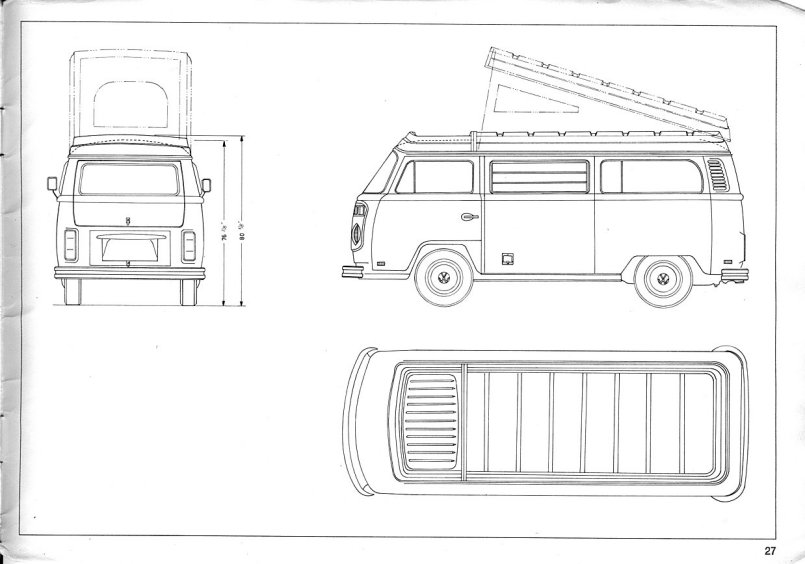 vw westfalia interior dimensions