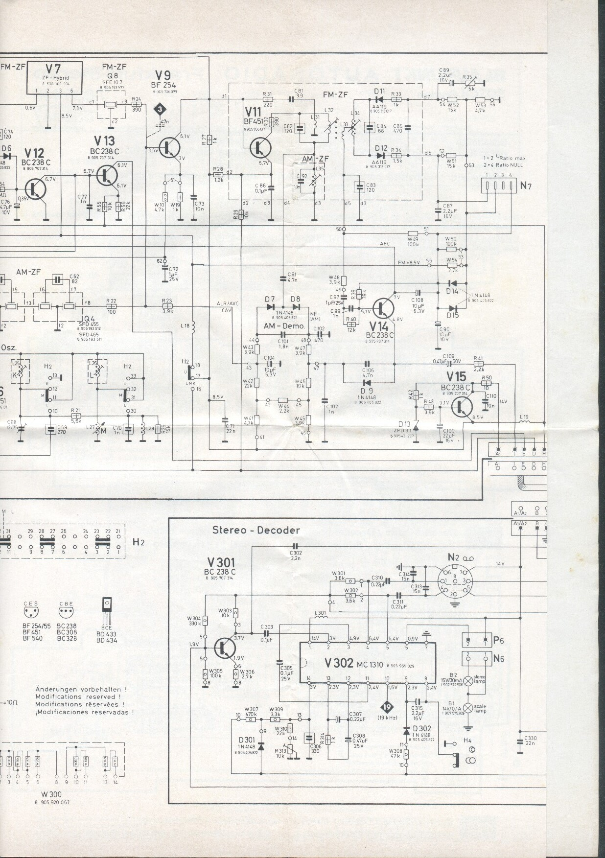 1975 blaupunkt frankfurt stereo schematic. Black Bedroom Furniture Sets. Home Design Ideas
