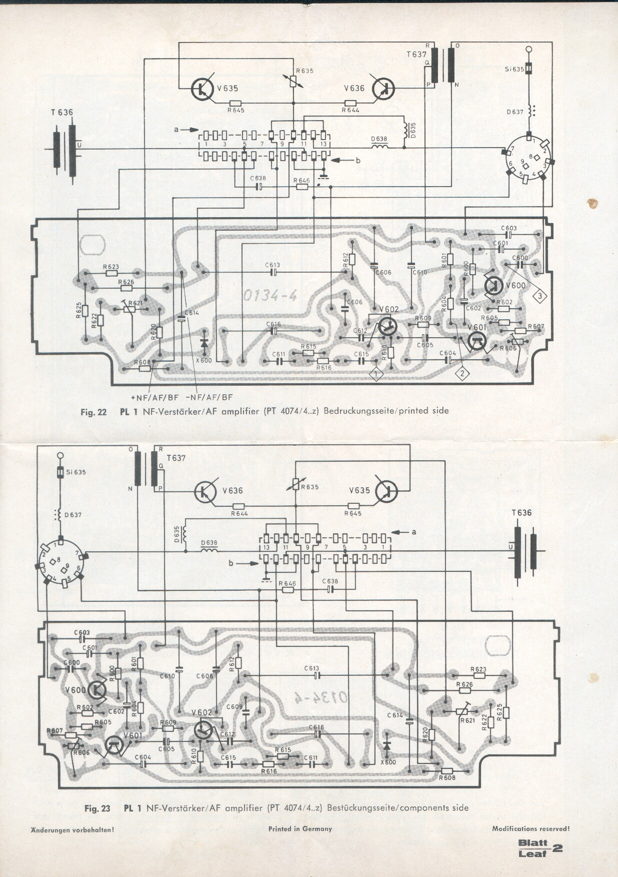 1965 Blaupunkt Koln Schematics Printed Circuit Board And Alignment
