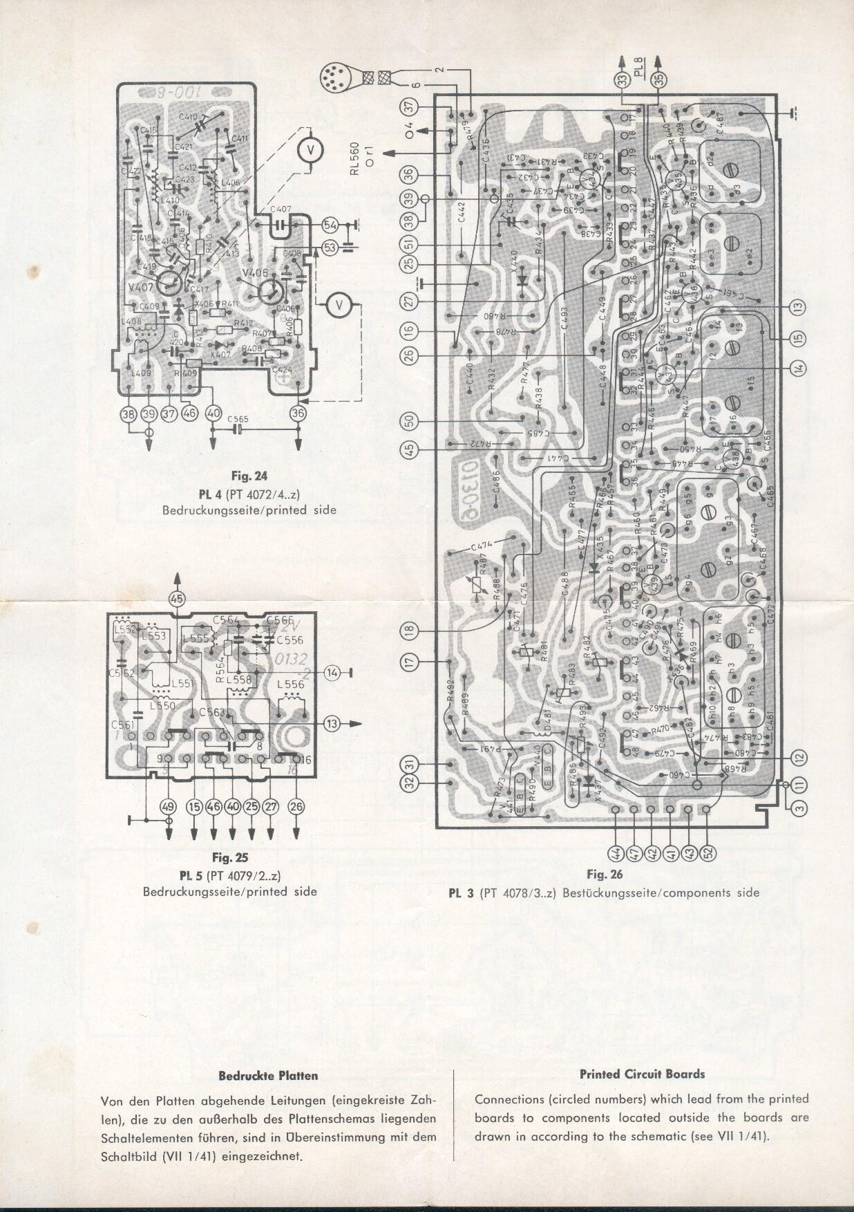 1965 Blaupunkt Koln Schematics Printed Circuit Board