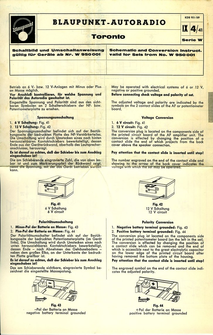TheSamba.com :: Blaupunkt Toronto Owner\'s Manual