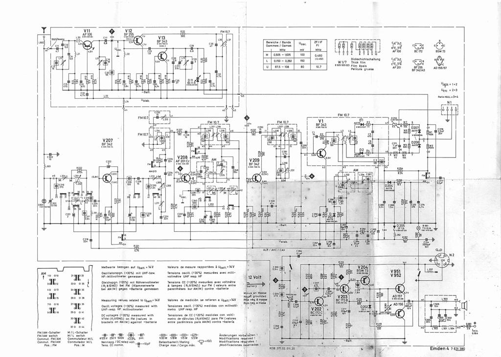 blaupunkt emden 4 radio schematic. Black Bedroom Furniture Sets. Home Design Ideas