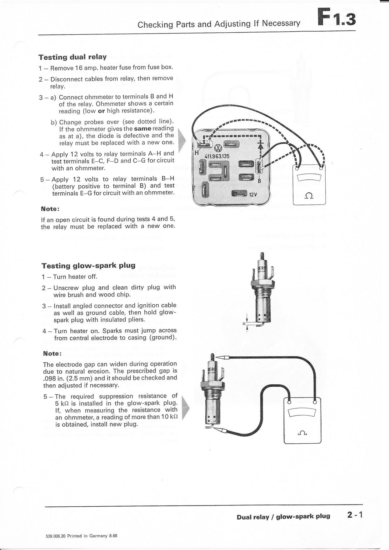 Ammeter Gauge Wiring Http Wwwthesambacom Vw Archives Manuals 12 Volt Diagram Thesamba Com Volkswagen Shop Manual Fresh Air Heating And