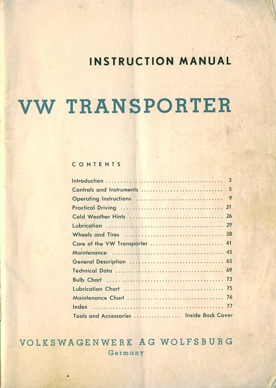 TheSamba com :: January 1961 Owner's Manual