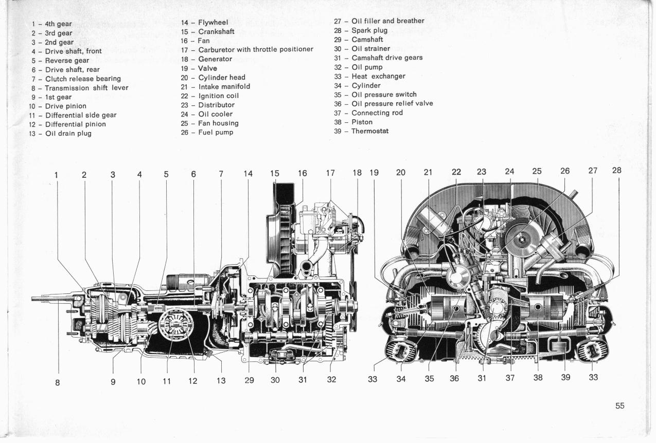 Engine Vacuum Diagram 1973 Vw Bus Books Of Wiring 1 8 Beetle Exploded View Free Image For